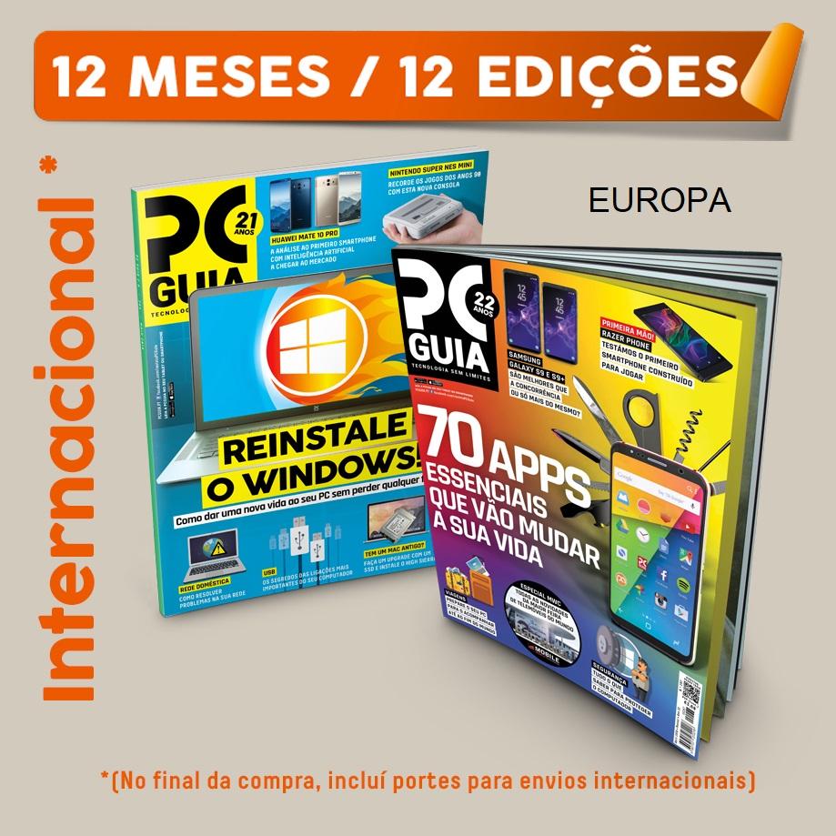 Assinatura Papel Revista PCGuia (12 Meses) EUROPA