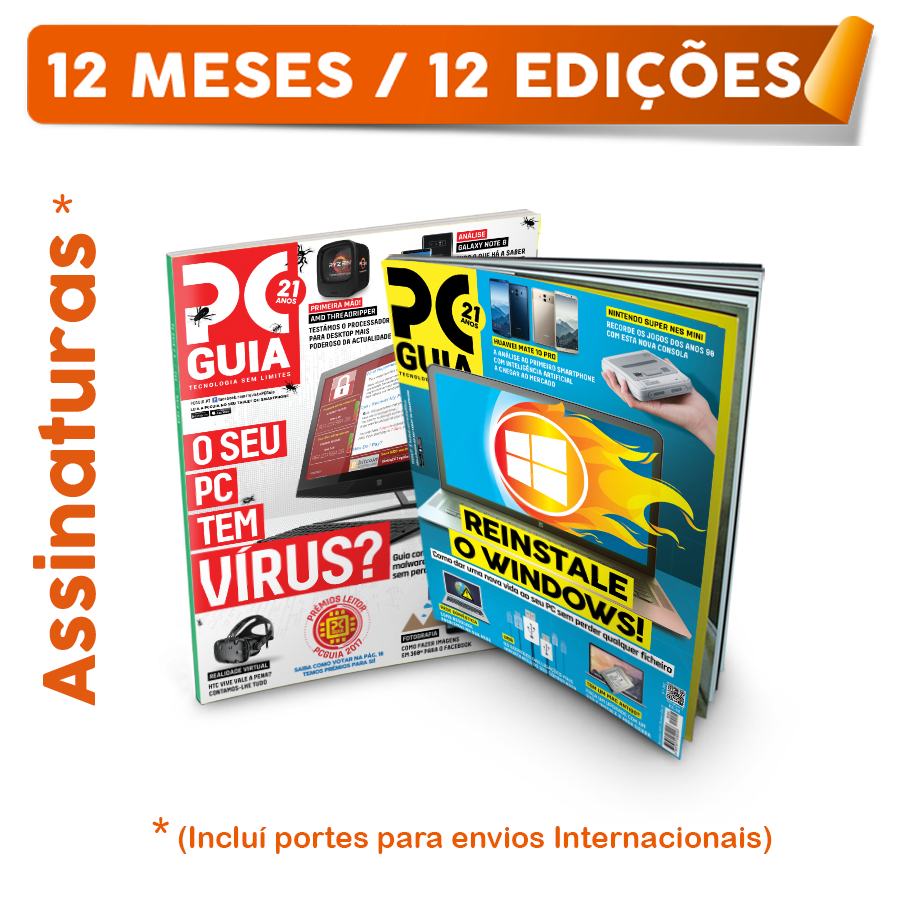 Assinatura Papel Revista PCGuia (12 Meses) Internacional