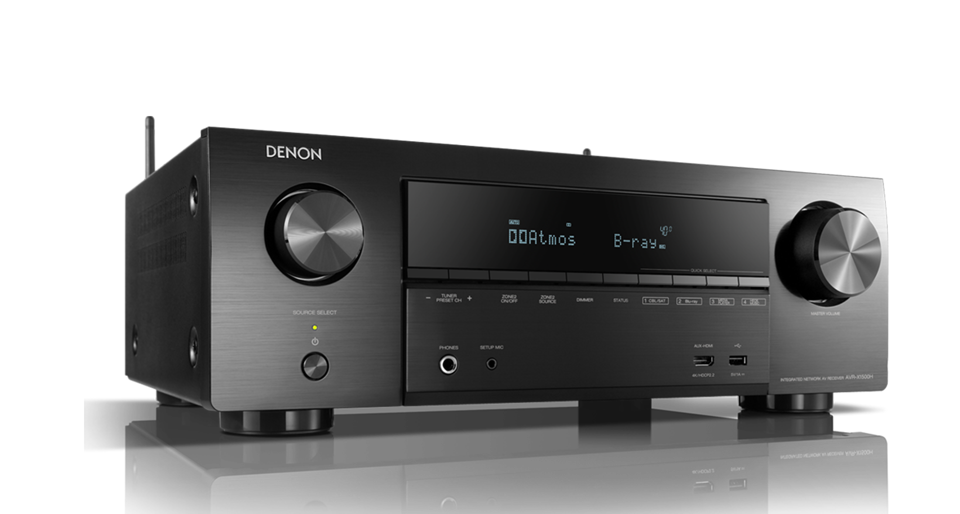 AVR-X1500H Receiver AV 7.2 com bluetooth e Heos integrado Denon