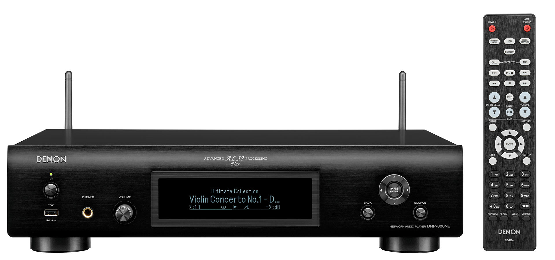 DNP-800NE Preto streamer de Áudio com bluetooth e AIRPLAY 2 Denon