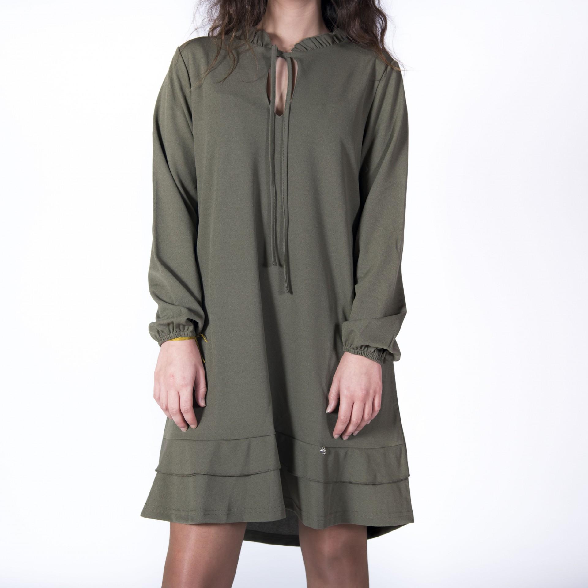 2dac817ca7 Vestido verde seco ...