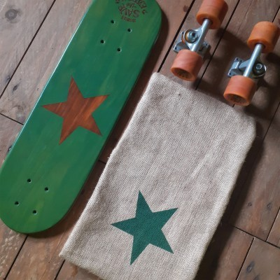 "Skateboard cruiser ""Retro star"""
