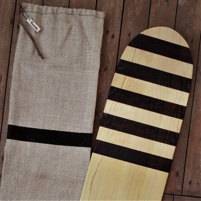 "Eco bellyboard ""Striped rider"""