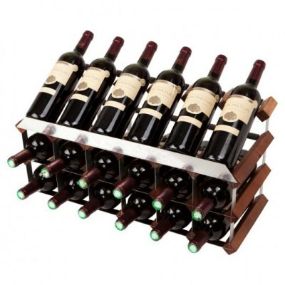 """Mensolas display"" para 18 garrafas"