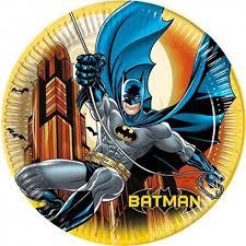 Pratos Batman - 8 unidades