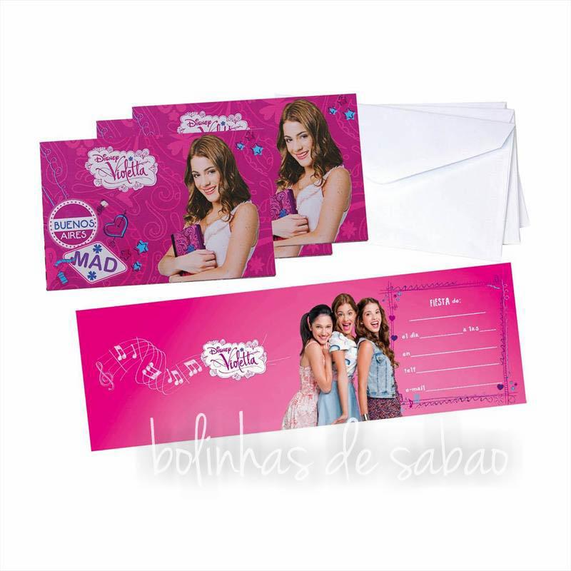 Convites Menina - Violetta