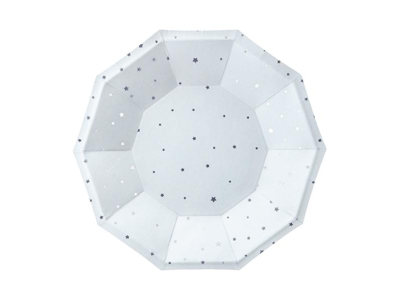 Pratos Estrelas Azul Claro