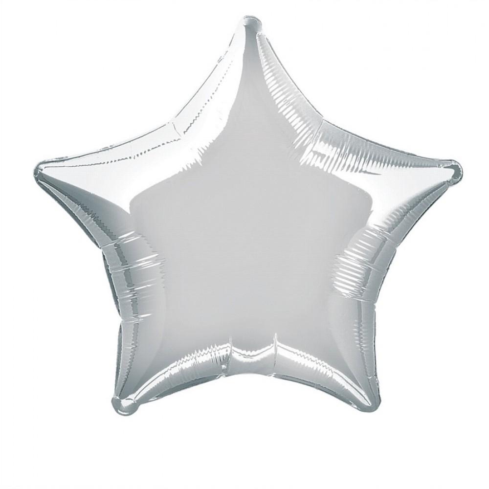 """Balão Foil Estrela Prateado- 18 """""""