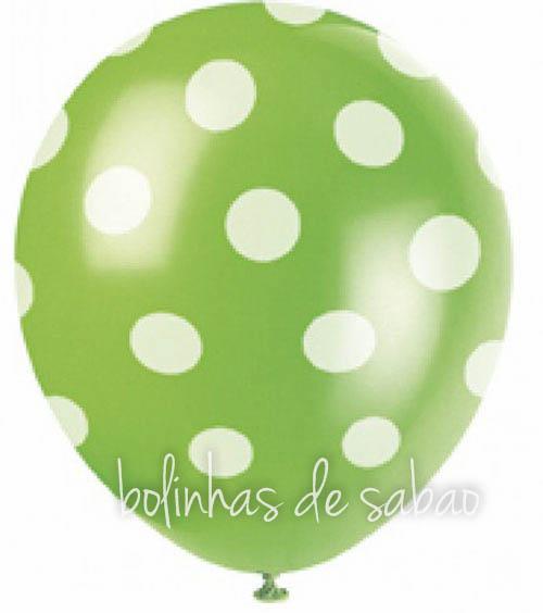 Balões Bolinhas 5 unidades - Verde