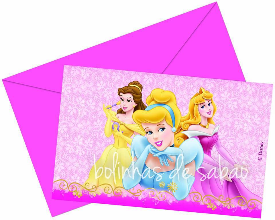 Convites Disney 10 unidades - Princesas