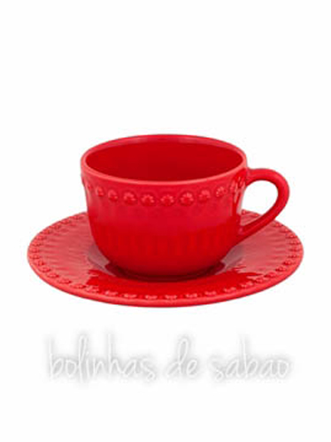 Chávenas de Chá - Vermelho