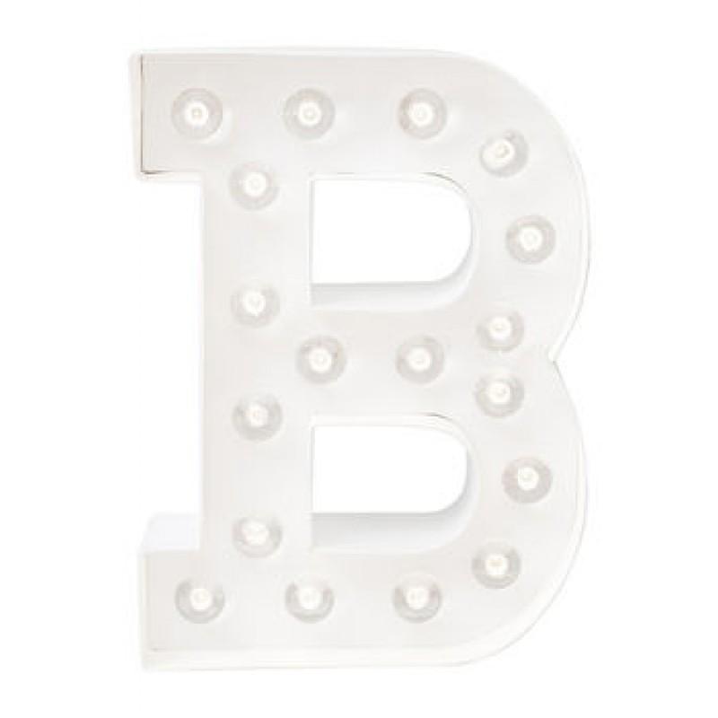 Letra B Luminosa