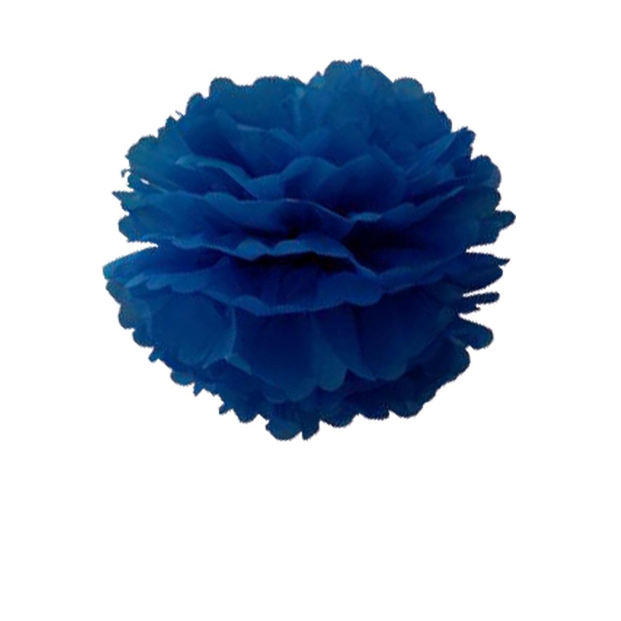 Pompom de Papel 25 cm - Azul
