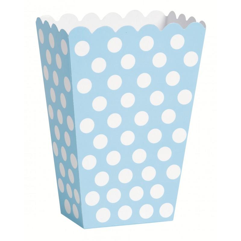 Caixas de Pipocas 8 unidades - Azul Claro Tamanho M