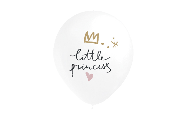 6 Balões 32cm Little Princess
