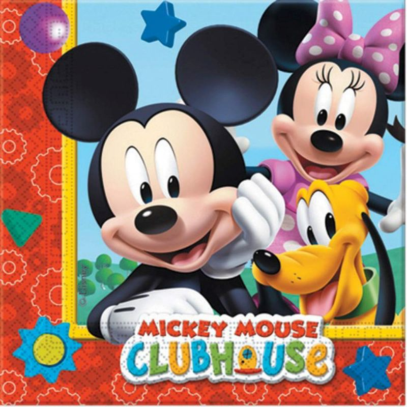 Guardanapos Disney Mickey 33cm - 20 unidades