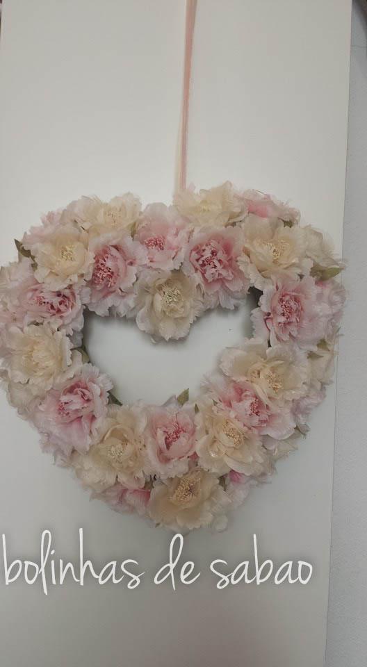 Grinalda Coração Flores