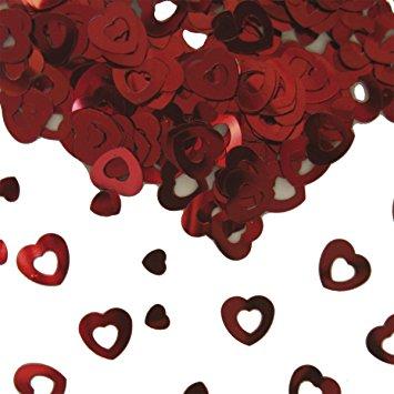 Confetis Corações Vermelhos