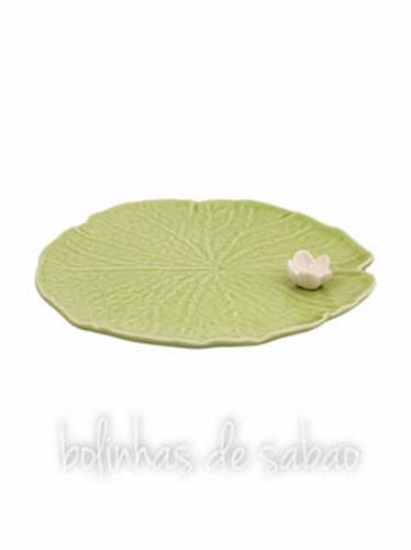 Folha com Flor 15.5 cm - Nenúfar