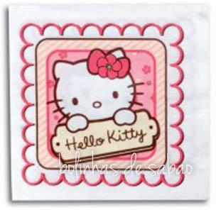 Guardanapos Hello Kitty 33 cm - 20 unidades