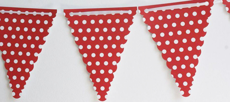 Bandeiras Bolas Vermelho