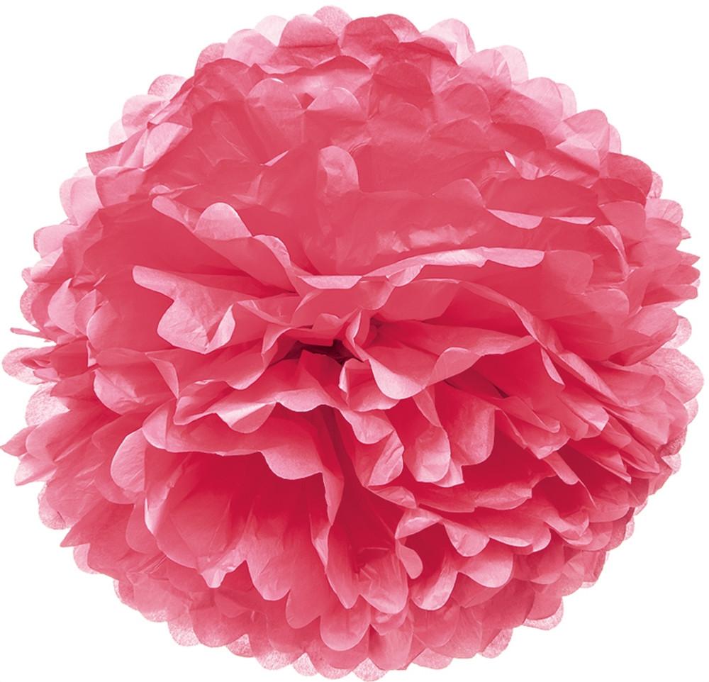Pompom de Papel 40 cm - Rosa
