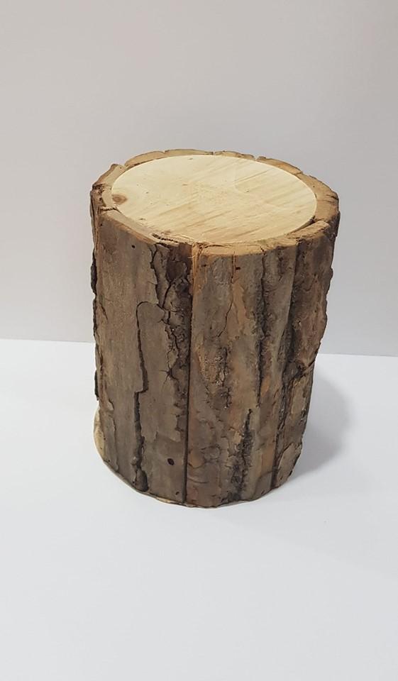 Tronco Madeira 15 cm x 11 cm