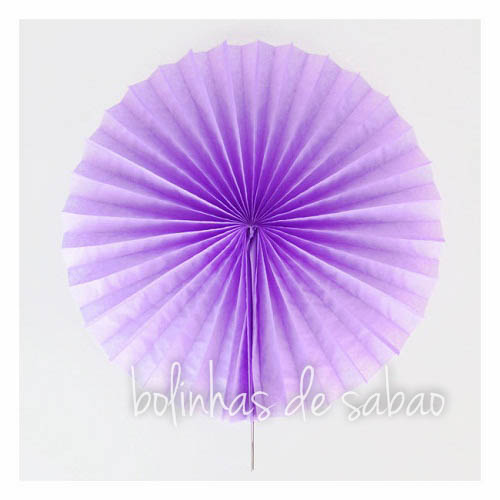 Roseta de Papel 41 cm - Lilás
