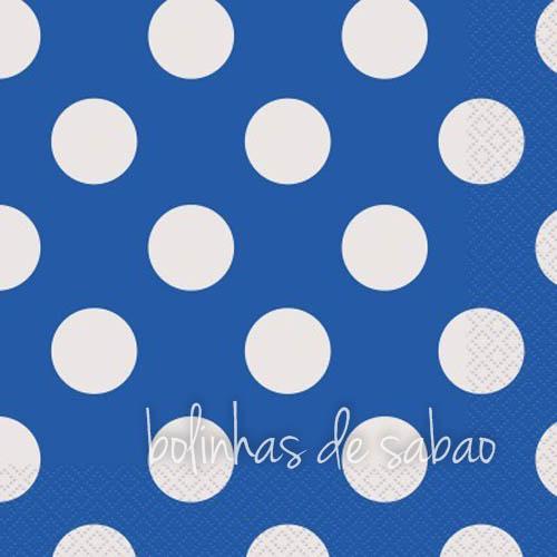 Guardanapos Bolas Azul 25 cm - 16 unidades