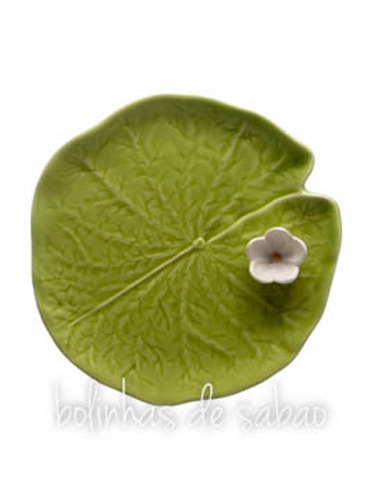 Folha com Flor 23 cm