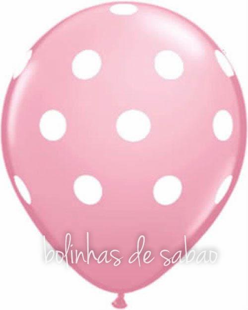Balões Bolinhas 10 unidades  - Rosa