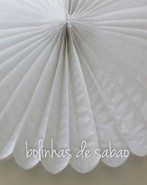 Roseta de Papel 41 cm - Branco