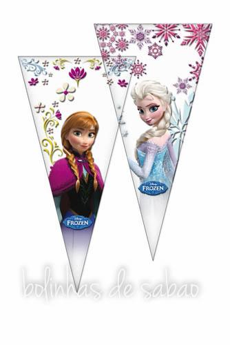 Saquetas 10 unidades - Frozen Triângulos