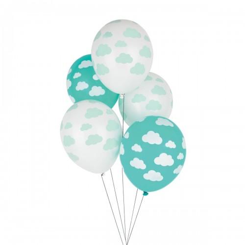 Balões Látex Impressos Nuvens - 5 unidades