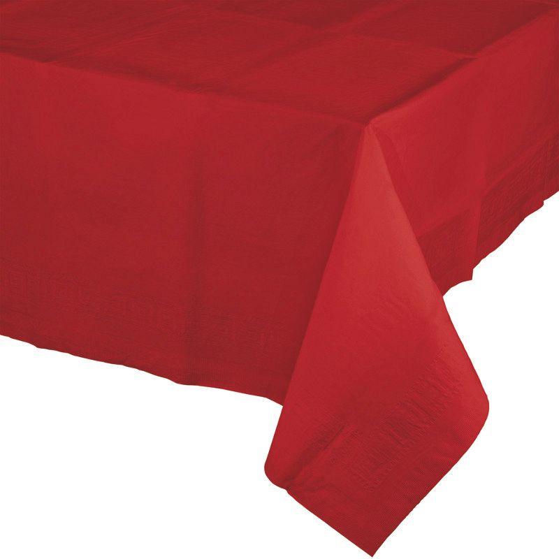 Toalha de Mesa Plástico - Vermelho