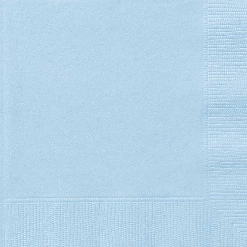 Guardanapos Lisos Azul Bebé 33 cm - 20 unidades