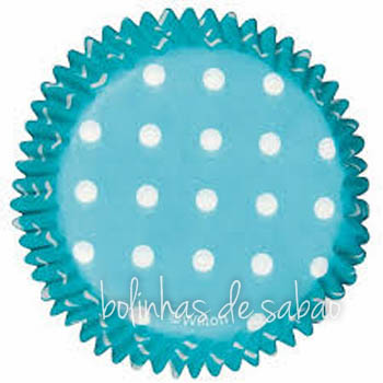 Cupcakes Bolas 60 unidades - Azul