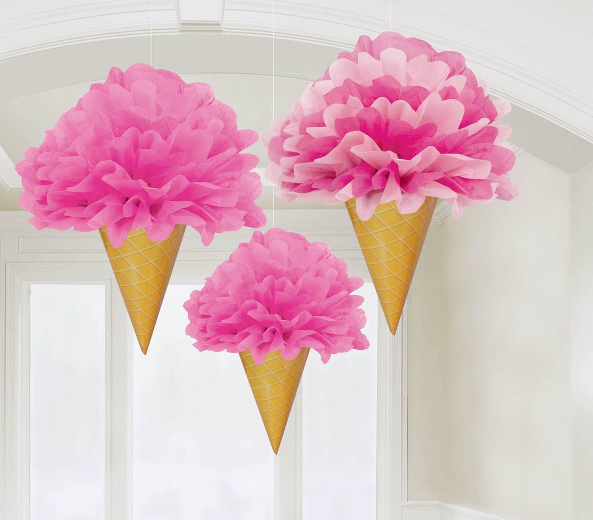 Decor cones gelados - 3 unidades