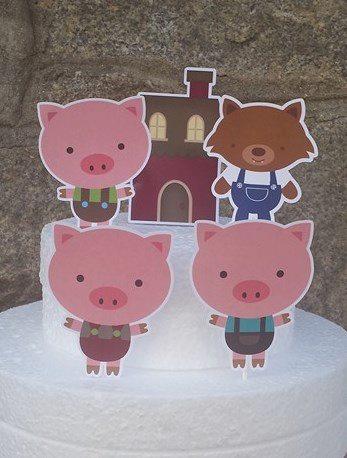 Topos de Bolo 3 Porquinhos