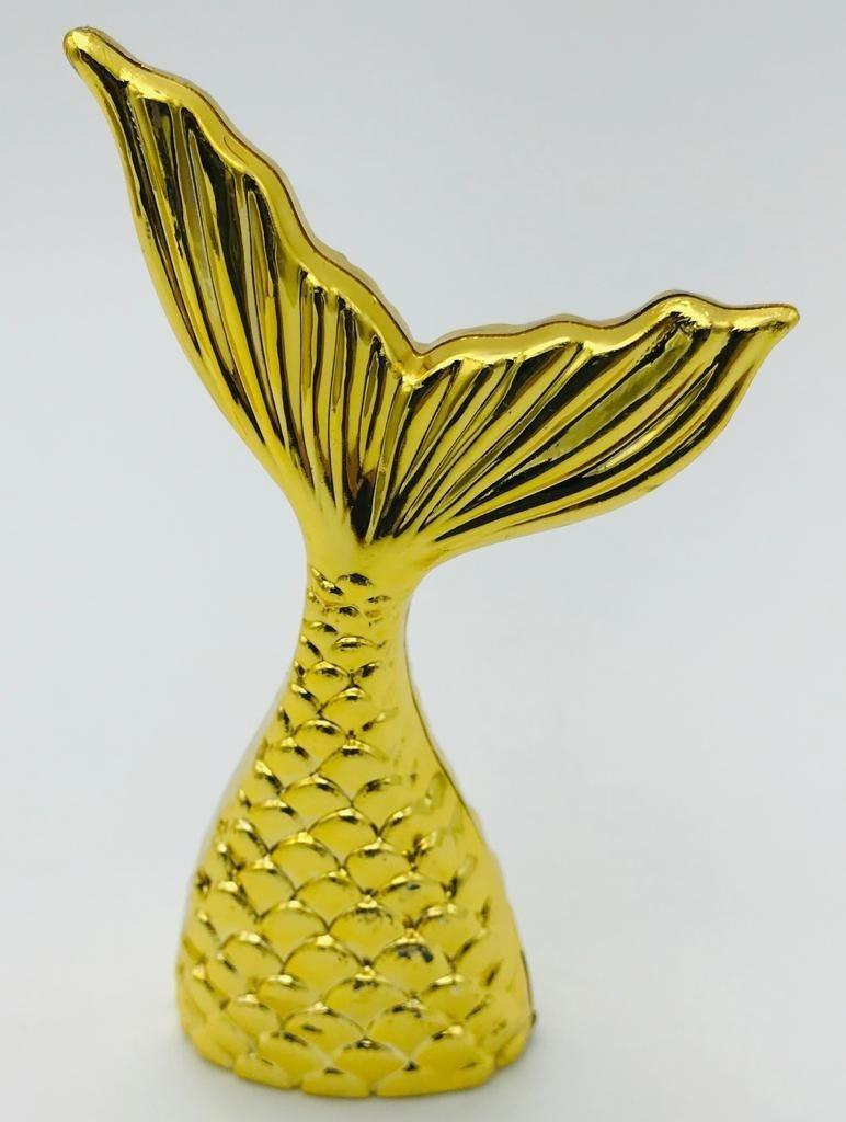 Caixa Cauda Sereia - Dourada