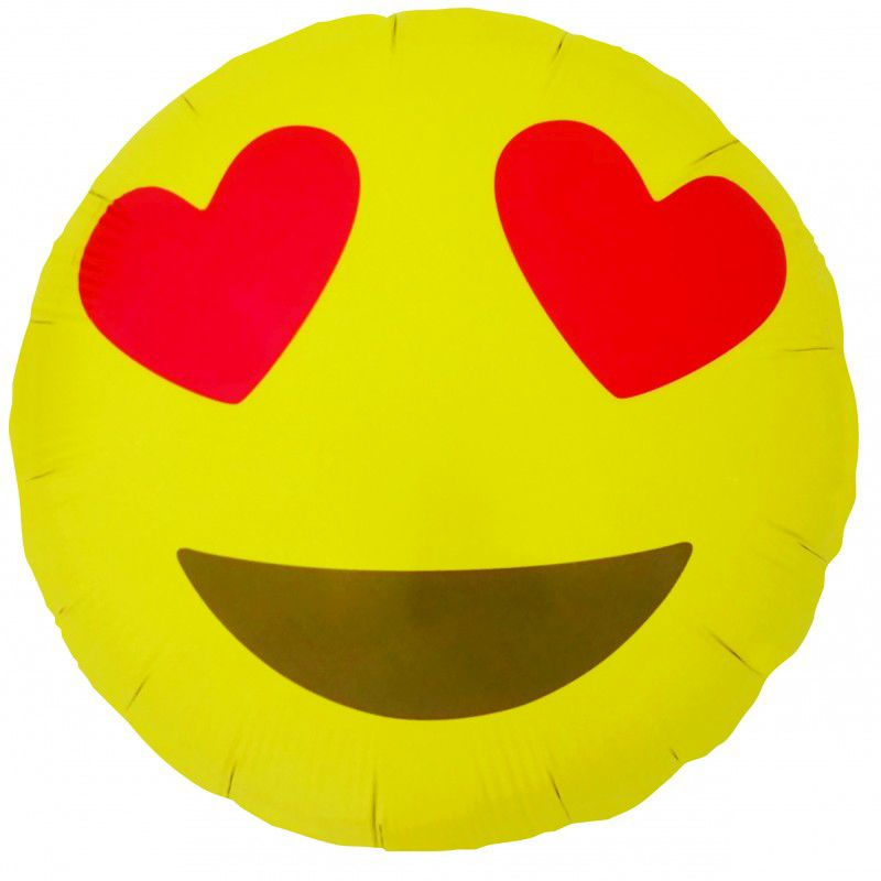 "Balão Foil 18"" Emoji Heart Eyes"