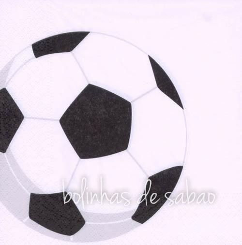 Guardanapos Desenhos Futebol 33 cm - 20 unidades