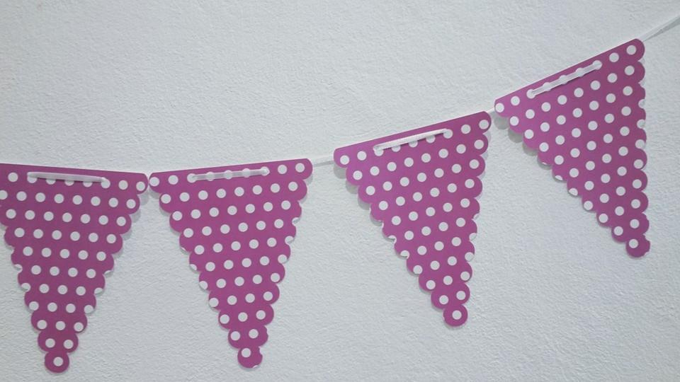 Bandeiras Bolas Cor Violeta