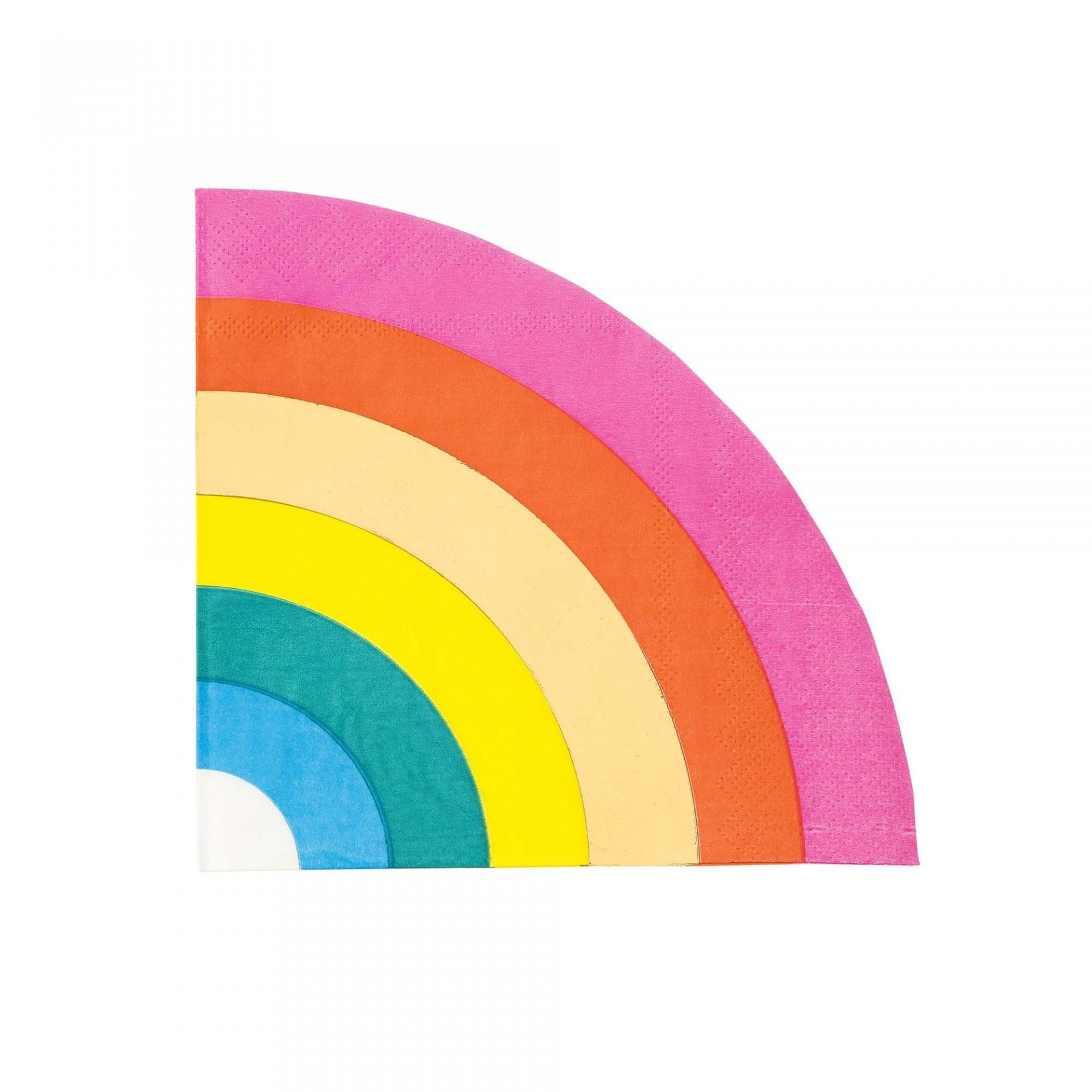 Guardanapos Recortados Arco-Íris