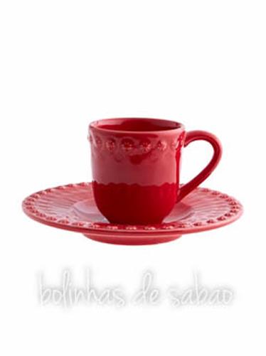 Chávenas de Café - Vermelho