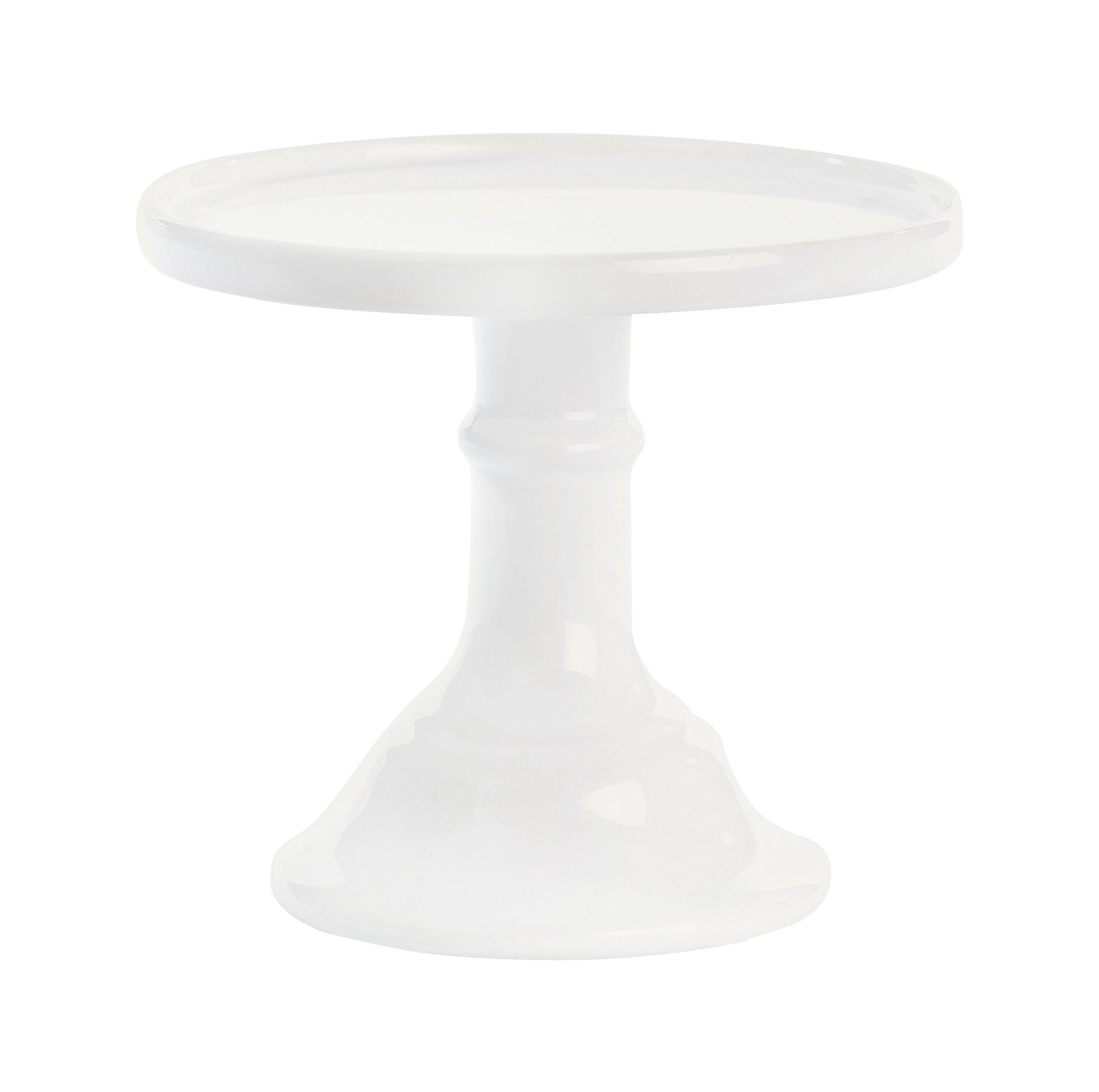Cake Stand Cerâmica 25 CM - Branco -  Miss Etoile
