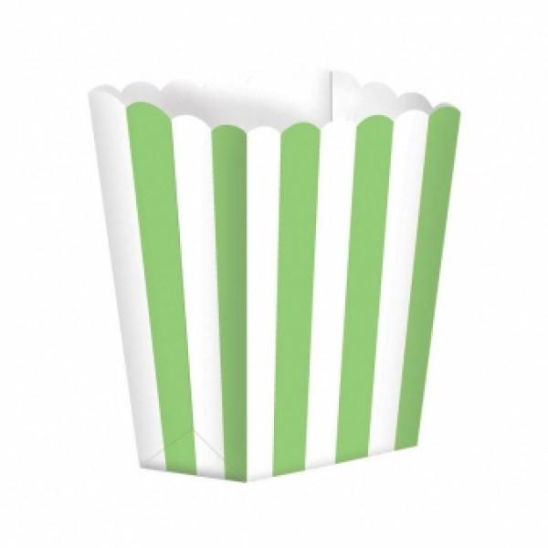 Caixas de Pipocas 5 unidades - Verde Kiwi Tamanho S