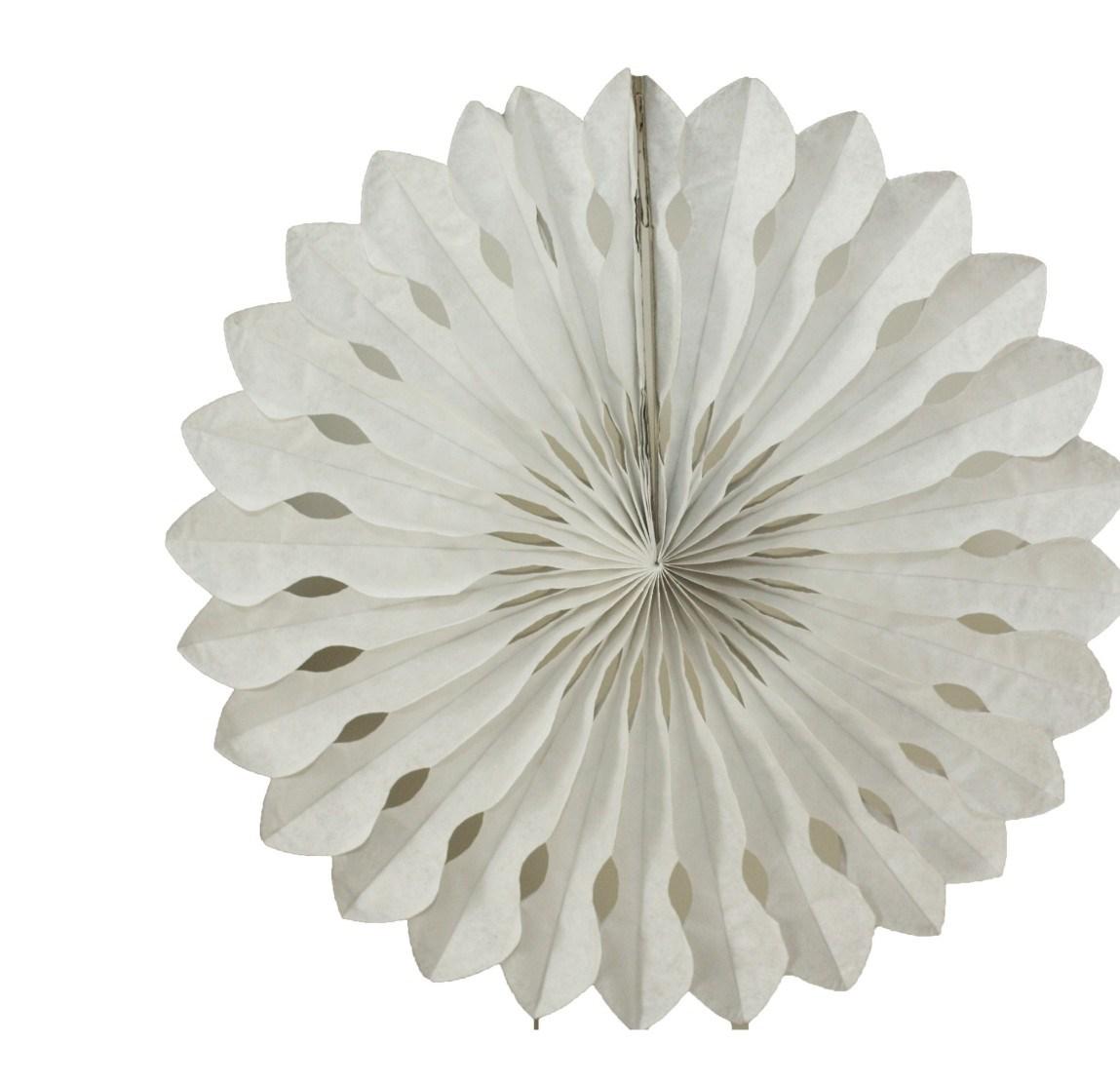 Roseta de Papel 45 cm - Branco
