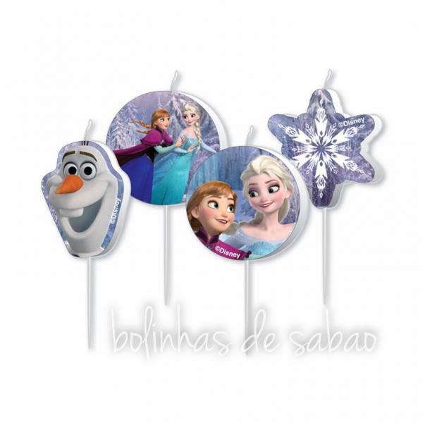 Velas Frozen - 4 unidades