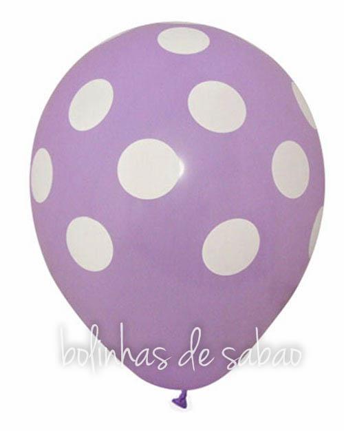 Balões Bolinhas 5 unidades - Lilás
